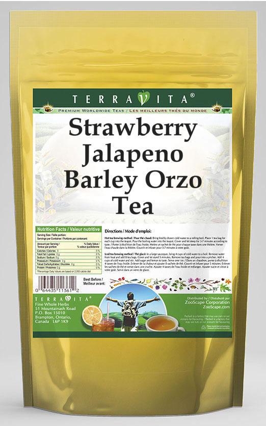 Strawberry Jalapeno Barley Orzo Tea