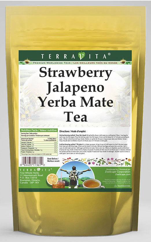 Strawberry Jalapeno Yerba Mate Tea