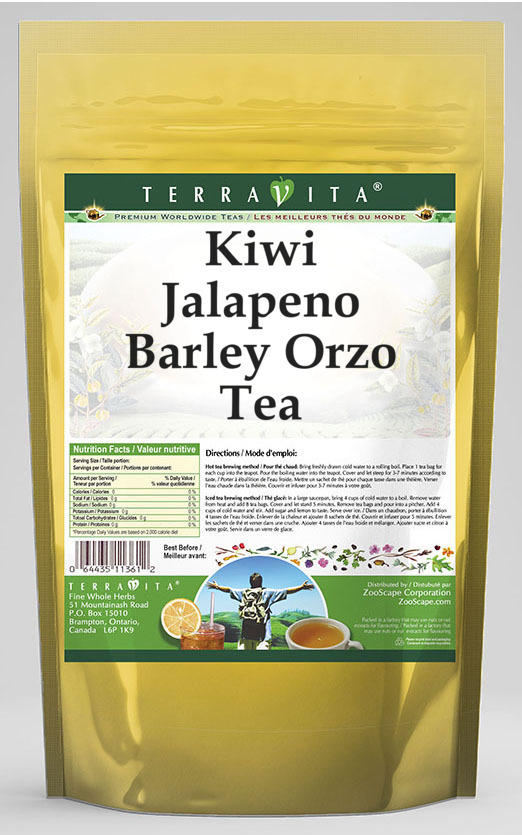 Kiwi Jalapeno Barley Orzo Tea
