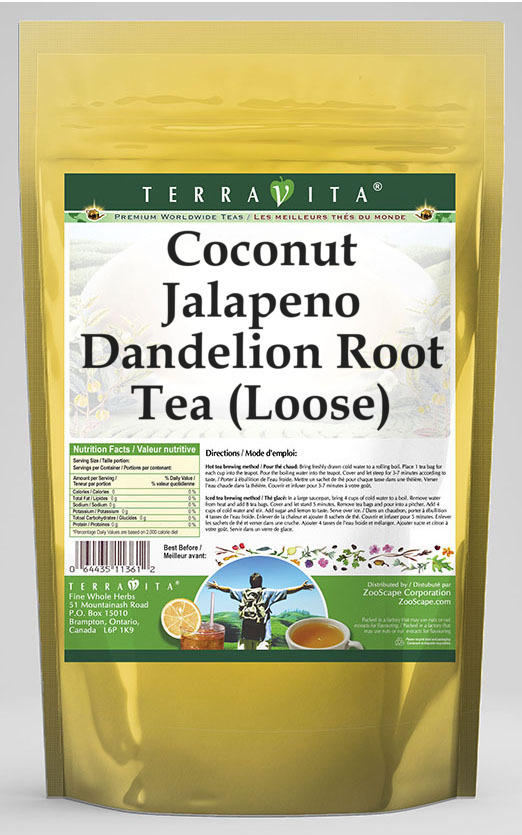 Coconut Jalapeno Dandelion Root Tea (Loose)