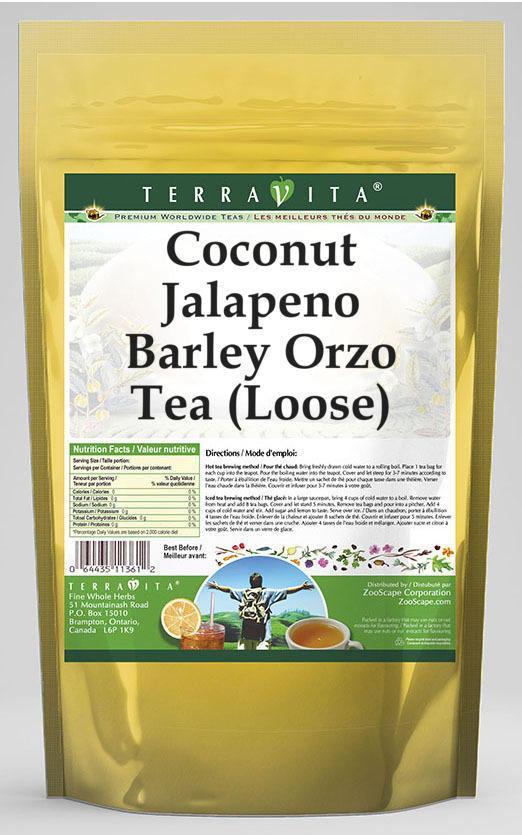 Coconut Jalapeno Barley Orzo Tea (Loose)